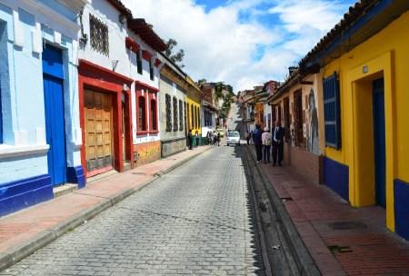 A street in La Candelaria, Bogotá, Colombia