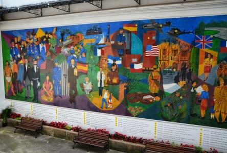 Mural Museo Histórico de la Policía Nacional in La Candelaria, Bogotá, Colombia