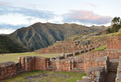 Ruins of the palace of Inca ruler Tupac Yupanqui in Chinchero, Peru