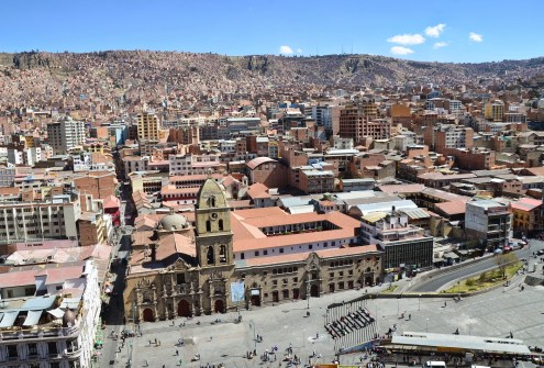 View from Hotel Presidente in La Paz, Bolivia