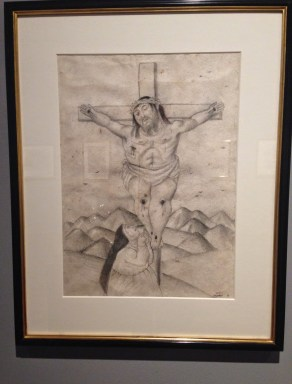 A drawing of Christ by Botero at Museo de Botero in La Candelaria, Bogotá, Colombia