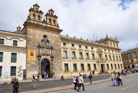 Capilla del Sagrario and Palacio Cardenalicio on Plaza de Bolívar, La Candelaria, Bogotá, Colombia
