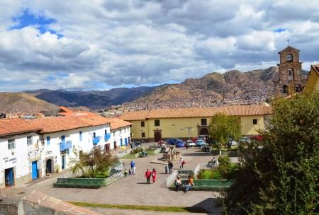Plaza de San Blas in San Blas, Cusco, Peru