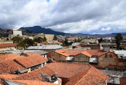 View from the rooftop Museo Histórico de la Policía Nacional in La Candelaria, Bogotá, Colombia
