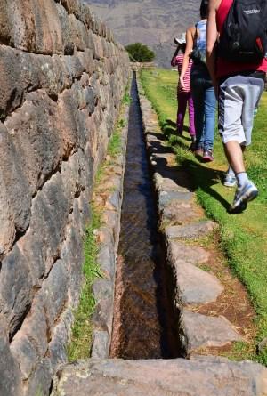 Irrigation system at Tipón, Peru