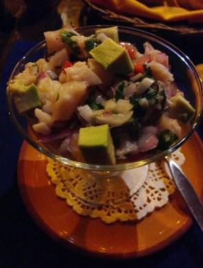 Ceviche at Inkazuela in Cusco, Peru