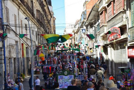 Calle Comercio in La Paz, Bolivia