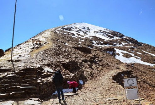The view up from the ski lodge at Chacaltaya, Bolivia