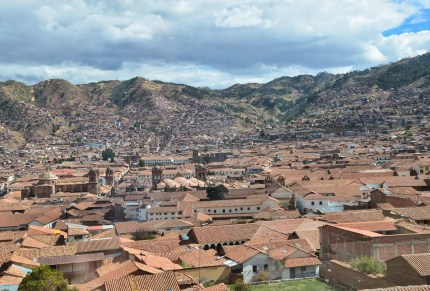 View from Mirador de San Blas in San Blas, Cusco, Peru