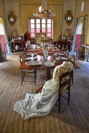 Dining room at Quinta de Bolívar in Bogotá, Colombia