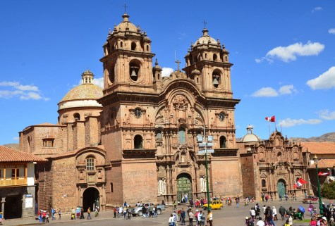 Iglesia de la Compañía on Plaza de Armas in Cusco, Peru