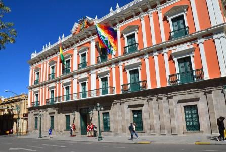 Palacio Quemado in La Paz, Bolivia
