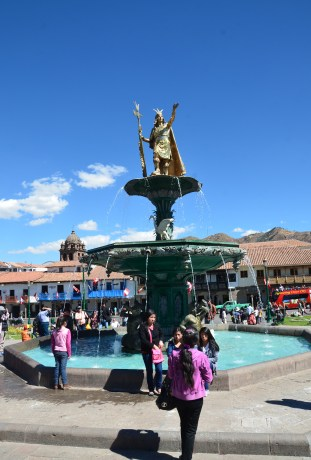 Fountain in Plaza de Armas, Cusco, Peru