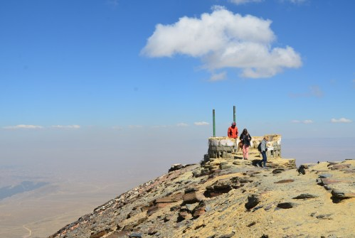 At the top of Chacaltaya, Bolivia