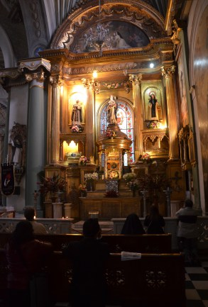 Relics of the three saints at Iglesia de Santo Domingo in Lima, Peru
