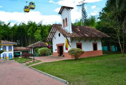 Church at Parque Nacional del Café in Quindío, Colombia