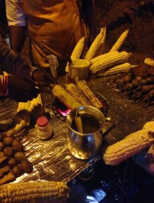 Street food at the Tour de los Silleteros in the Feria de las Flores, Medellín, Antioquia, Colombia
