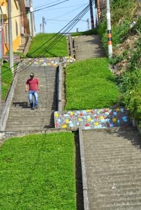 A stairway in Belén de Umbría, Risaralda, Colombia