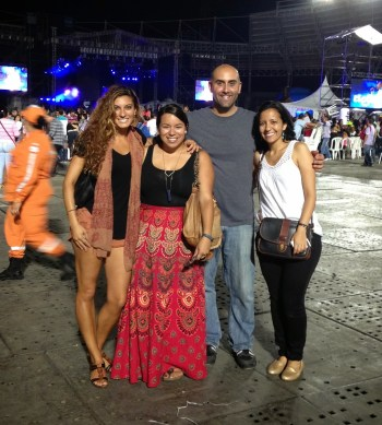 Our group at the Marc Anthony concert in Pereira, Risaralda, Colombia