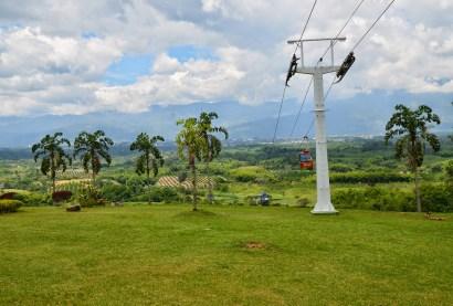 Cable car at Parque Nacional del Café in Quindío, Colombia