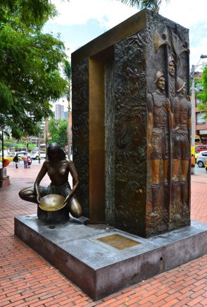 Monument in Medellín, Antioquia, Colombia