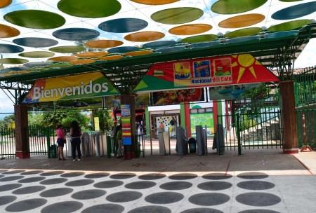 Entrance at Parque Nacional del Café in Quindío, Colombia