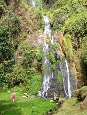 Waterfall at Termales Hotel in Santa Rosa de Cabal, Risaralda, Colombia