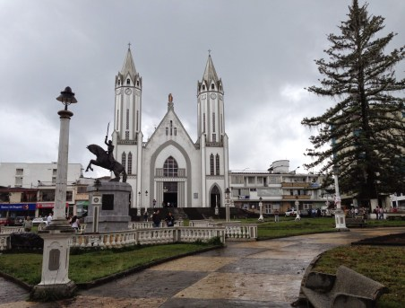 Plaza in Santa Rosa de Cabal, Risaralda, Colombia