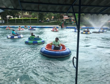 Bumper boats at Parque del Café in Quindío, Colombia