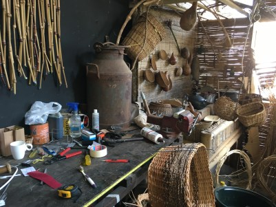 Basket weaver's workshop at Centro de Interpretación del Bejuco al Canasto in Filandia Quindío, Colombia