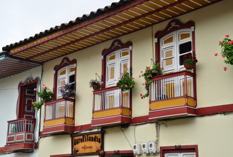 A building in Filandia, Quindío, Colombia