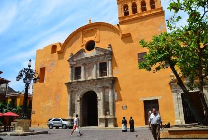 Iglesia de Santo Domingo in El Centro, Cartagena, Bolívar, Colombia