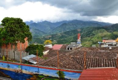 View from Nuestra Señora del Rosario in Belén de Umbría, Risaralda, Colombia