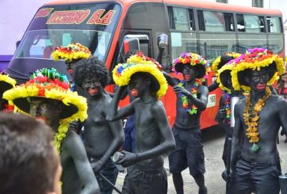 Carnaval de Barranquilla - Africans at the parade in Belén de Umbría, Risaralda, Colombia
