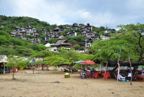 Playa Grande in Taganga, Magdalena, Colombia