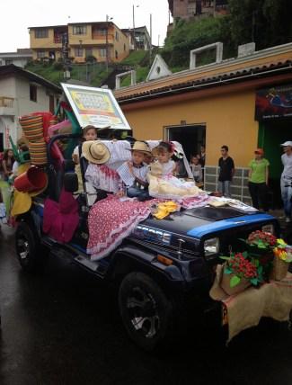Parade at the fiesta in Belén de Umbría, Risaralda, Colombia