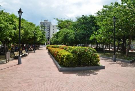 Parque de Bolívar in Santa Marta, Magdalena, Colombia
