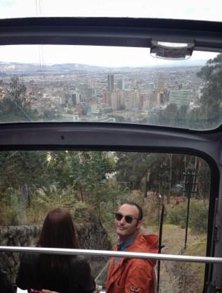 Funicular to Cerro de Monserrate in Bogotá, Colombia