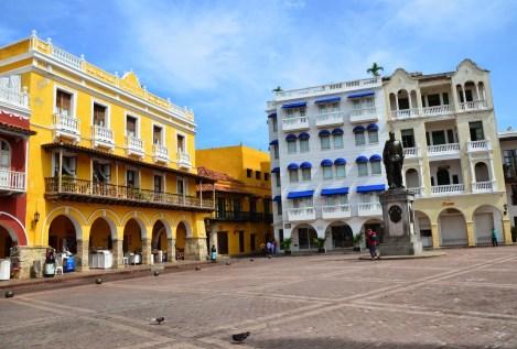 Plaza de los Coches in El Centro, Cartagena, Bolívar, Colombia