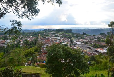 View from Alto de la Cruz in Salento, Quindío, Colombia