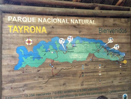 Tayrona National Park entrance in Colombia