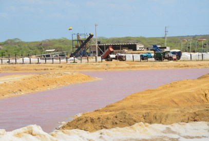 Salt mine in Manaure, La Guajira, Colombia
