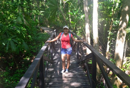 Marisol on the trail at Tayrona National Park in Colombia
