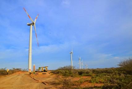 Wind farm near Cabo de la Vela, La Guajira, Colombia