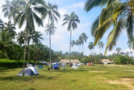 Campground at Cabo San Juan del Guía at Tayrona National Park in Colombia