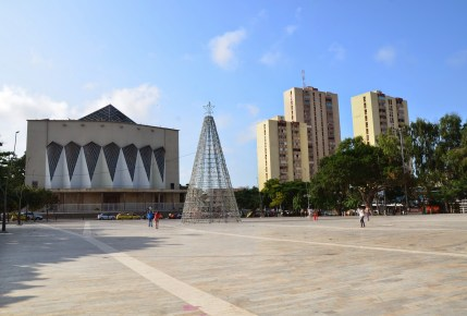 Plaza de la Paz and Catedral Metropolitana in Barranquilla, Atlántico, Colombia
