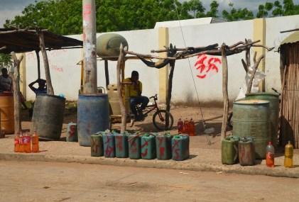 Bootlegged gas in Uribia, La Guajira, Colombia