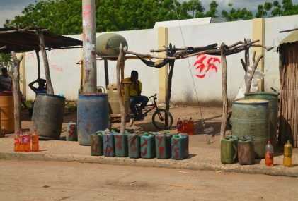 Bootlegged gas in Uribia, La Guajira, Colombia