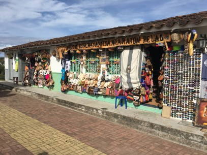 Souvenir shop at Viejo Peñol in Antioquia, Colombia
