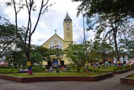 Plaza in Viterbo, Caldas, Colombia
